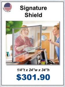 cashier shields
